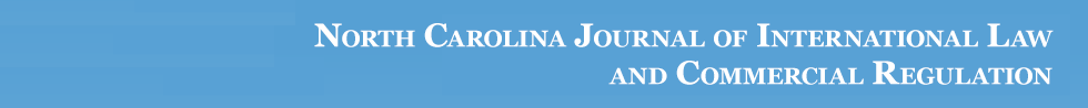 North Carolina Journal of International Law and Commercial Regulation