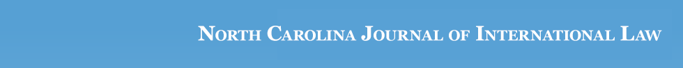 North Carolina Journal of International Law